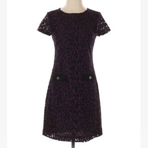 TOMMY HILFIGER LACE DRESS NEW SIZE 10 BLACK GOLD